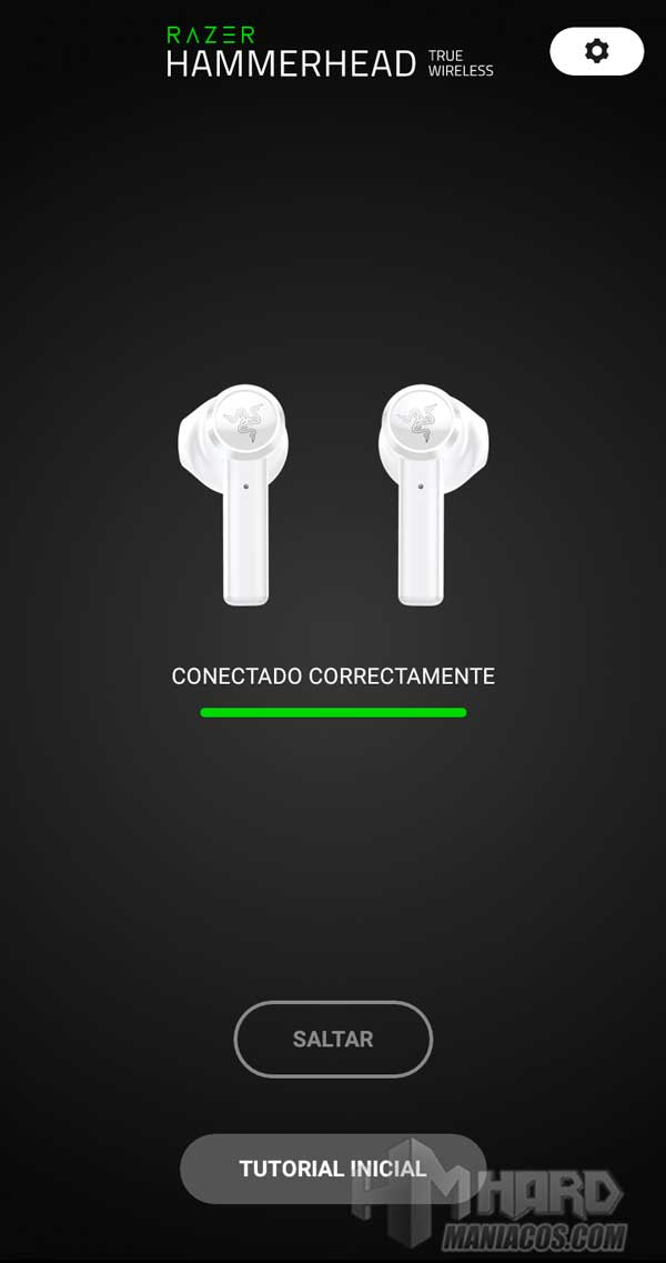Razer Hammerhead True Wireless Earbuds Mercury app listos