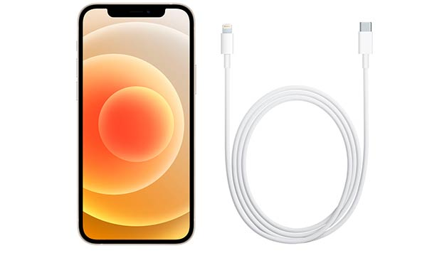 iphone 12 y cable USB Lightning