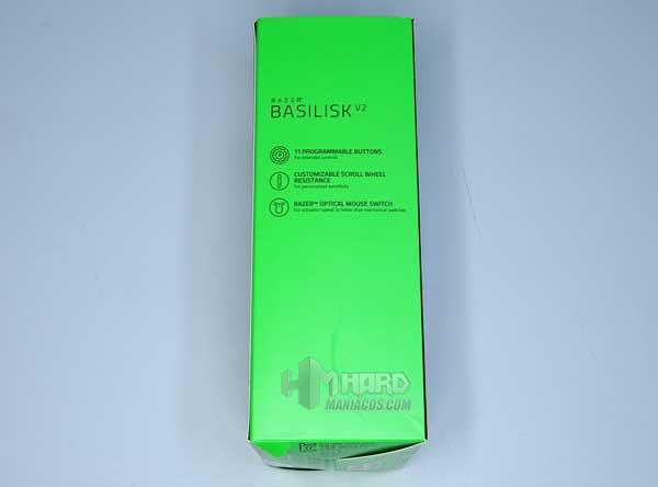 lateral caja Razer Basilisk V2