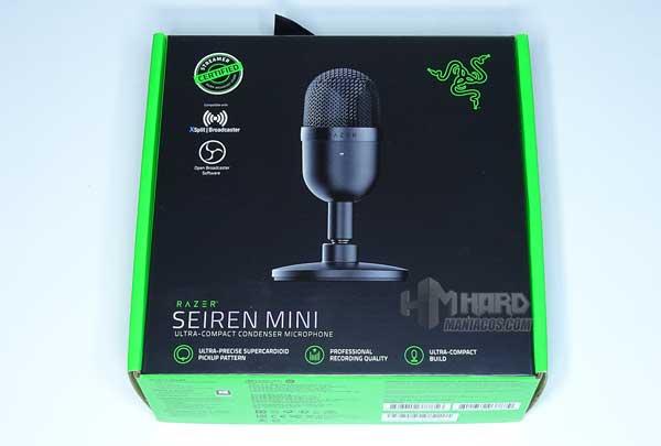 caja Razer Seiren Mini frontal