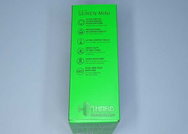 lateral largo caja Razer Seiren Mini