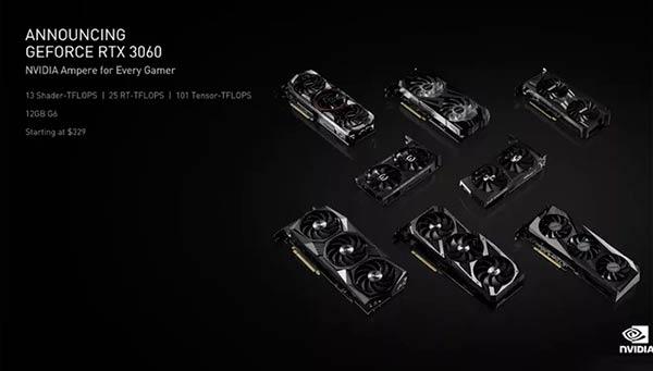 NVIDIA RTX 3060 CES 2021