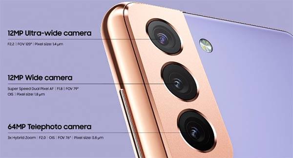 camara Samsung Galaxy S21 y S21+