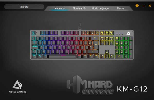 software teclado Aukey KM-G12