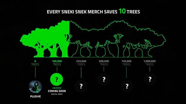 campaña con Sneki Snek de Razer salvar arboles