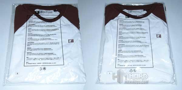 camisetas Noctua NP-T1 L y S en bolsa