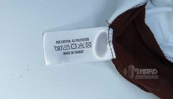 etiqueta lavado camiseta Noctua NP-T1
