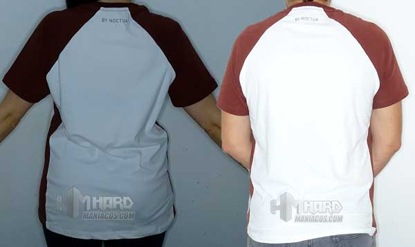 camisetas Notuca NP-T1 puestas por detras