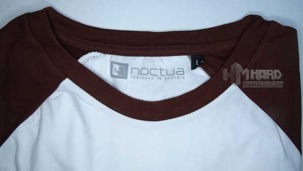 lema y logo interior camiseta Noctua NP-T1