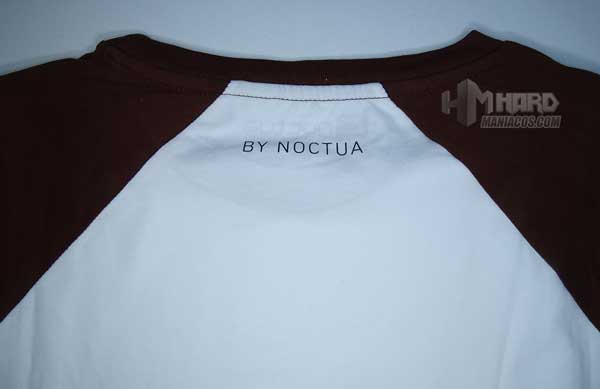 frase lema cuello espalda camiseta Noctua NP-T1