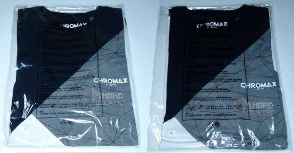 camisetas Noctua NP-T2 L y S en bolsa