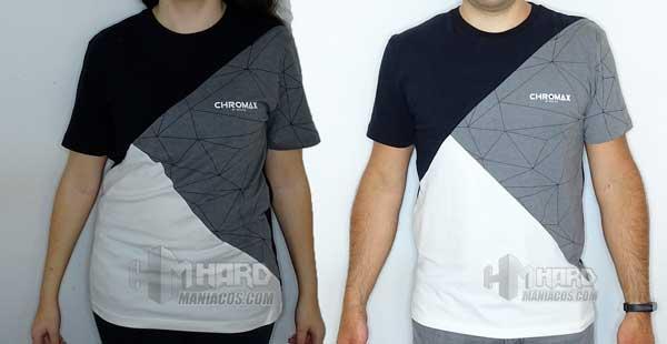 camisetas Noctua NP-T2 puestas de frente