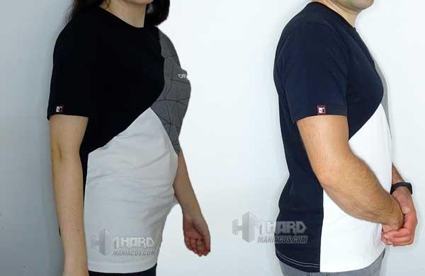 camisetas Noctua NP-T2 puestas de lado