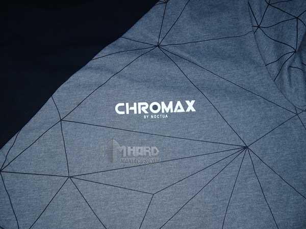 estampacion Chromax en camiseta Noctua NP-T2