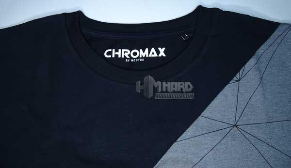 frase lema en cuello interior camiseta Noctua NP-T2