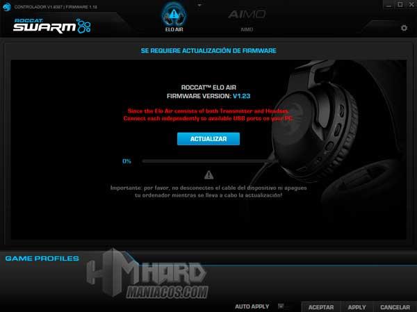 Roccat Elo 7.1 Air nueva version firmware