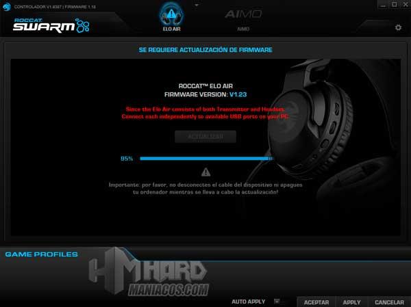actualizacion firmware Roccat Elo 7.1 Air