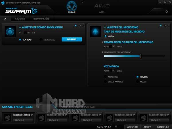 software Roocat Swarm Roccat Elo 7.1 Air