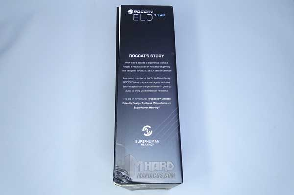 caja lateral cascos Roccat Elo 7.1 Air