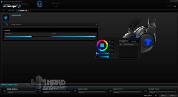 iluminacion rotacion colores software Roccat Elo 7.1 Air