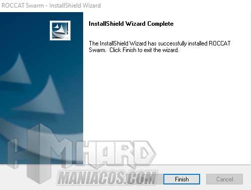 finalizar instalacion software Roccat Elo 7.1 Air