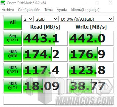 SSD Seagate BarraCuda Fast test CristalDiskMark USB