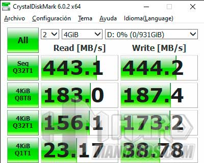 SSD Seagate BarraCuda Fast test CristalDiskMark USB C