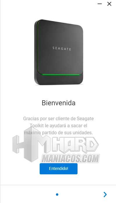SSD Seagate BarraCuda Fast conectado Toolkit