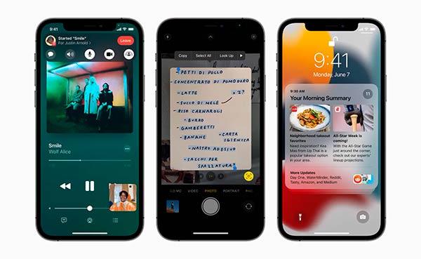 iOS 15 novedades