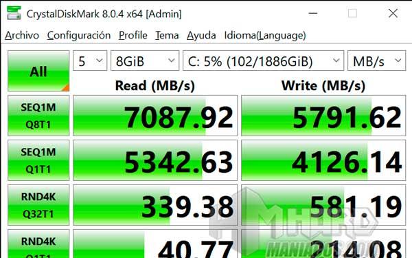 test CrystalDiskMark ROG Strix SCAR 15 G533