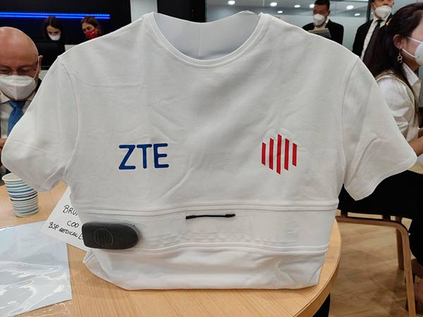 camiseta inteligente YouCare ZTE MWC 2021