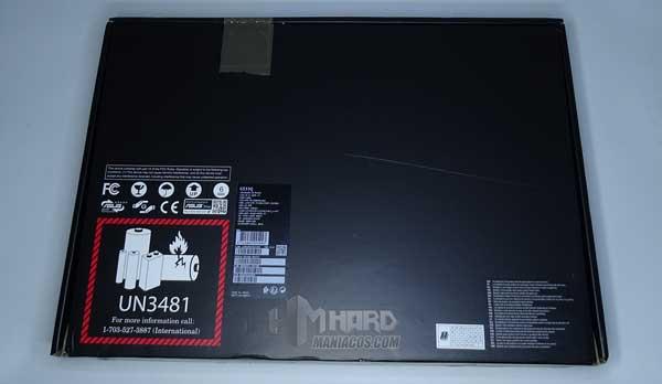 parte de atras caja ROG Strix SCAR 15 G533