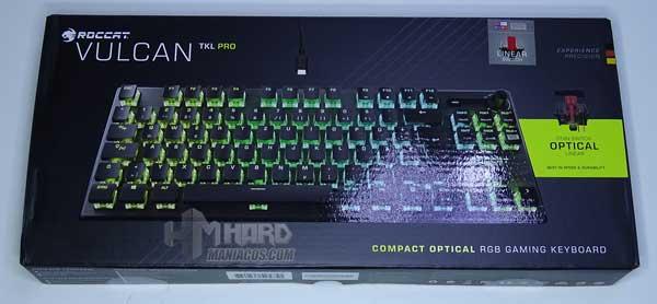frontal caja teclado Roccat Vulcan TKL Pro