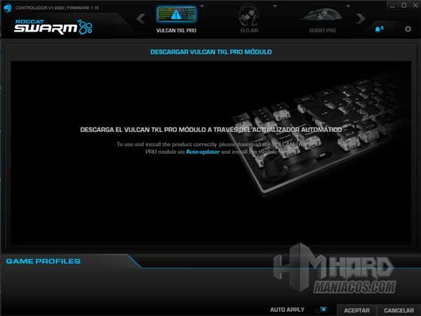 software teclado Roccat Vulcan TKL Pro instalacion