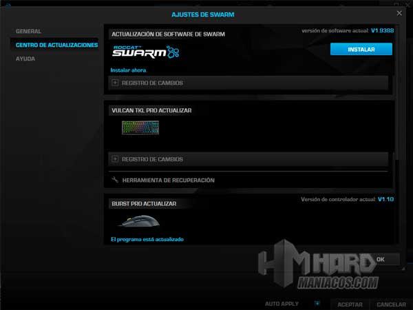 software teclado Roccat Vulcan TKL Pro