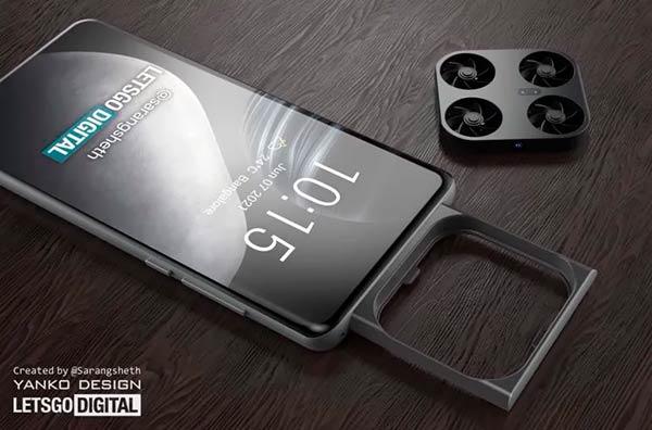 Patentado móvil Vivo con cámara dron en su interior