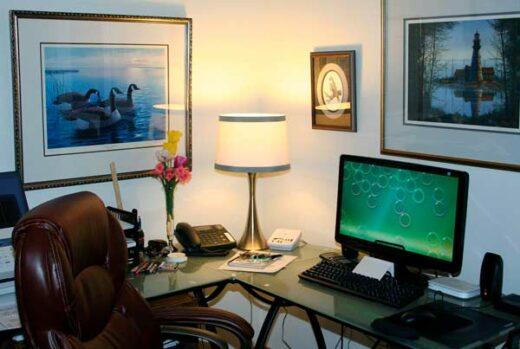 Oficina para teletrabajar